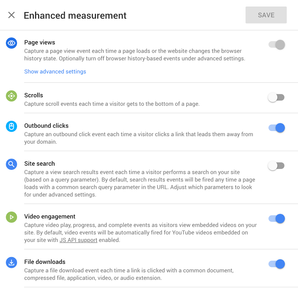 Enhanced Measurement is een nieuwe functie in Google Analytics: Web + App