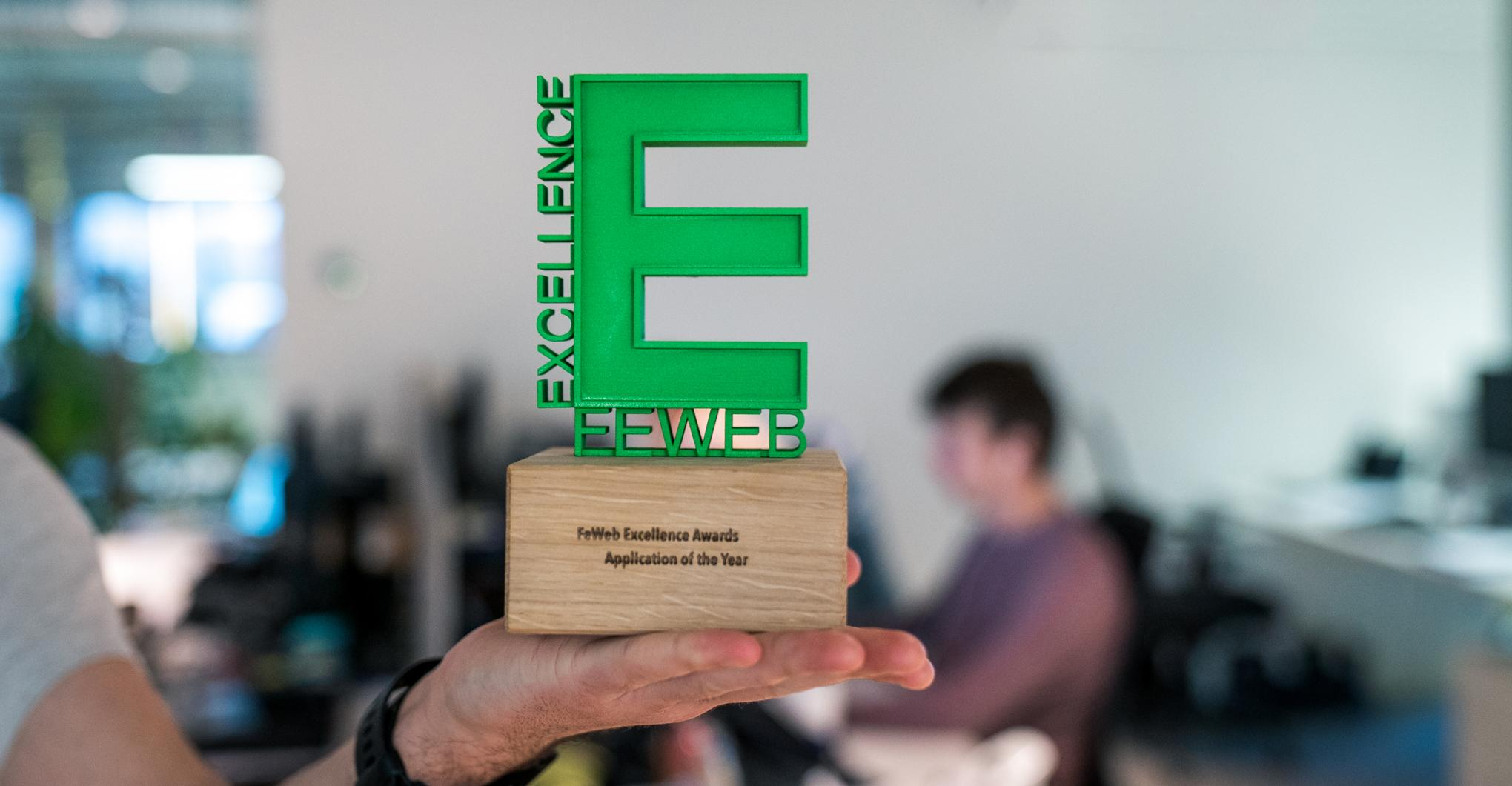 Intracto won de FeWeb Excellence Award voor Application of the Year
