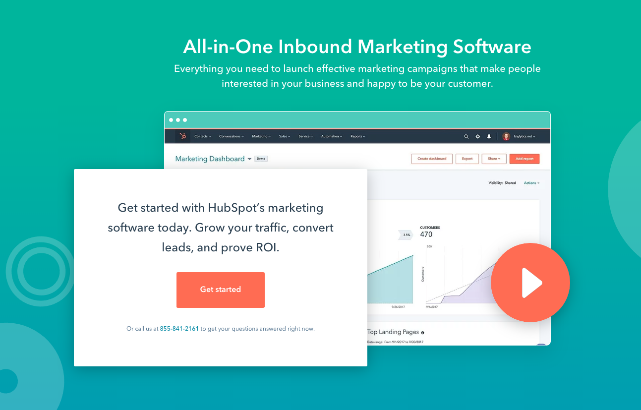 HubSpot is een all-in-one inbound marketing-pakket.