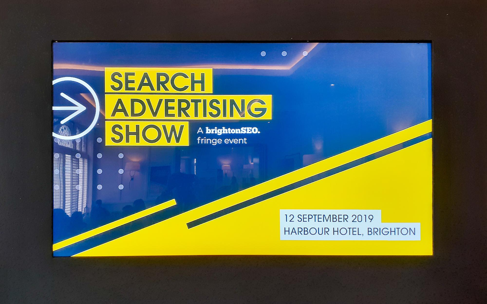 Search Advertising Show, een event in de marge van Brighton SEO 2019