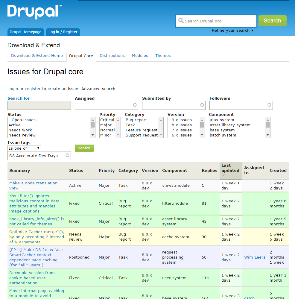 blog-Sprint-naar-drupal-8-is-ingezet-issues
