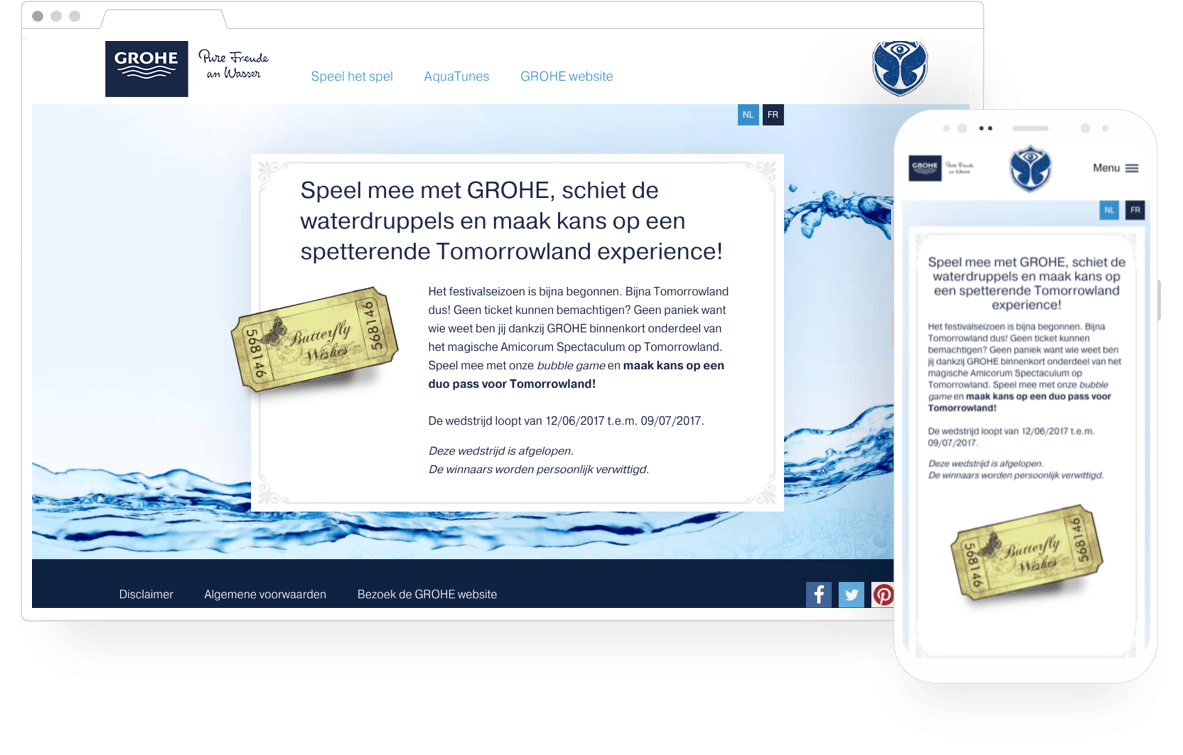 Screenshot website Grohe