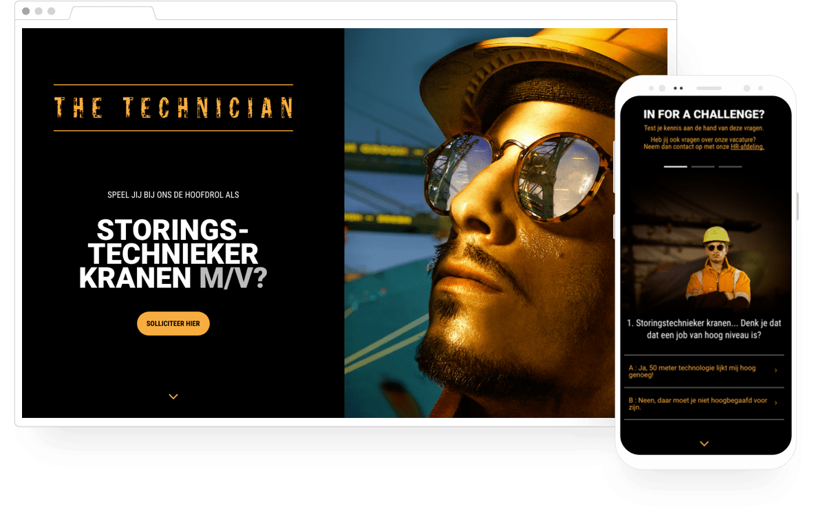 Screenshot website The Technician