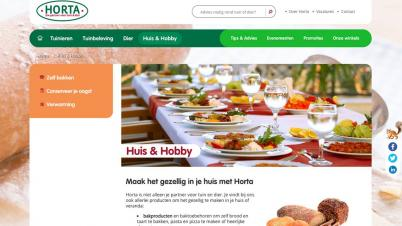 Screenshot website Horta