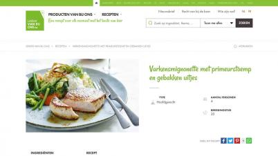 Screenshot website recept