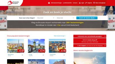 Screenshot van Brusselsairport.nl